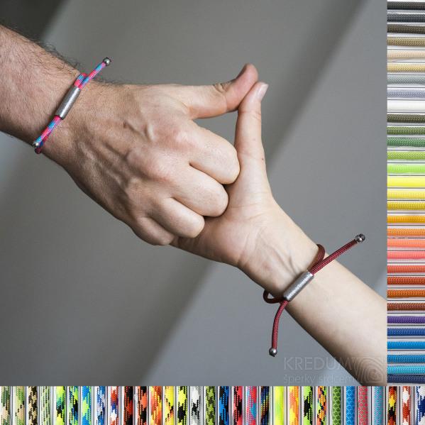 náramek Riana - ty a já - další barvy paracordu