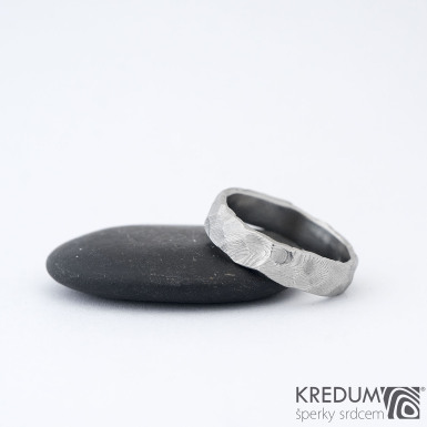 Natura kovaná za tepla - 56 5 TW - Damasteel snubní prsteny sk1275 (2)