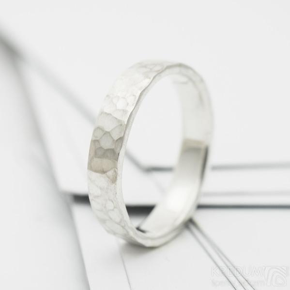 natura snubní prsten stříbro (2)