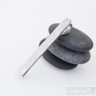 Natura white mini - Kovaná spona na kravatu damasteel, SK2422 (4)