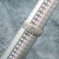Natura white - velikost 67 CF, šířka 8 mm, tloušťka 1,8 mm, dřevo světlé - Damasteel snubní prsteny - sk1977