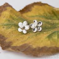 Flower 9,5 mm - Náušnice z bílého zlata