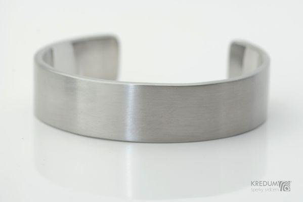 Kovaný nerezový náramek, SK1337