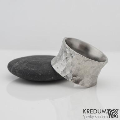 Rafael BG - Kovaný nerezový snubní prsten, S2238