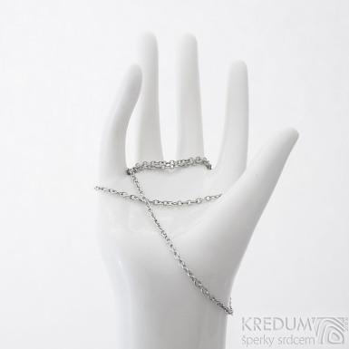 Nerezový řetízek - Jemný - délka 55 cm, SK2285
