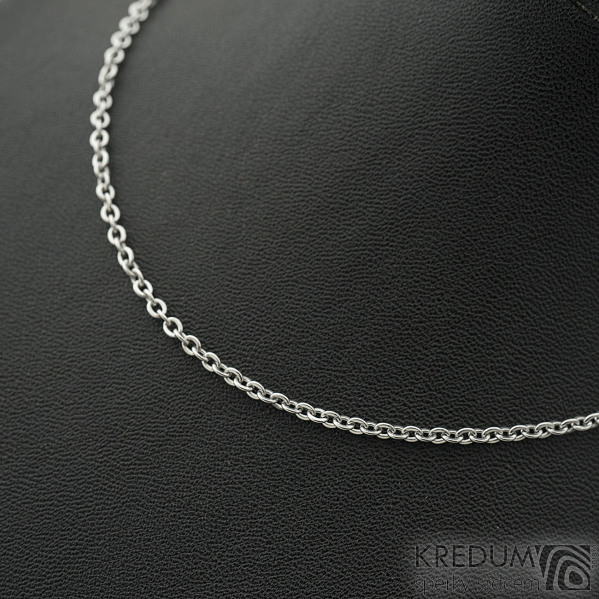 Nerezový řetízek - úzký - délka 45 cm, SK2237 (2)
