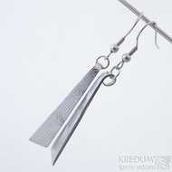 Nokturno - Kované náušnice z oceli damasteel, SK2454 (3)