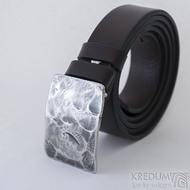 Opasek Mistr 3X - Plate s hnědým koženým páskem, SK2491 (4)