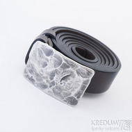 Opasek Mistr 3X - Plate s hnědým koženým páskem, SK2491