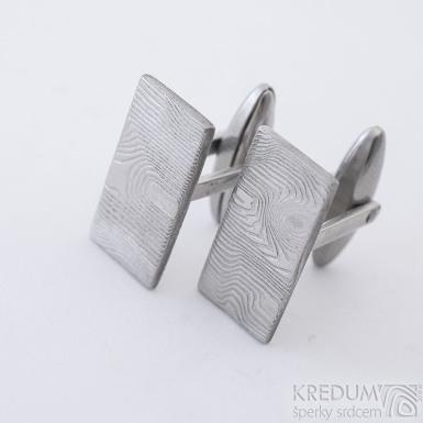 Pan Q - Kované manžetové knoflíčky damasteel, SK2315