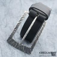 Opasek Patrem 3,5X Kant - kožený černý pásek + nerezová spona
