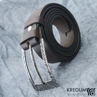 Opasek Patrem 3,5X Kant - kožený hnědý pásek + nerezová spona