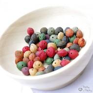 Peckové korálky - různé barvy