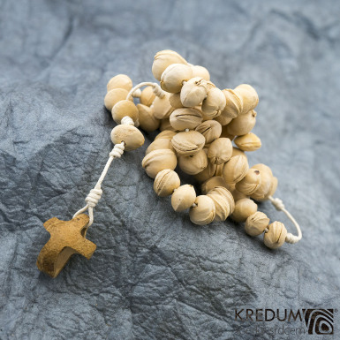 Peckový růženec - přírodní/bílý