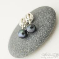 Perlové náušnice - přírodní perly - kiki black 5,3 mm (2)