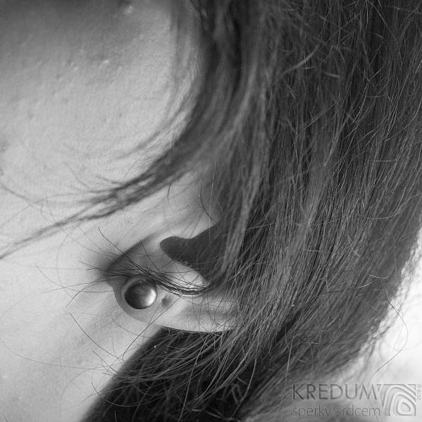 Perlové náušničky - Kiki black 8,5 mm (6)