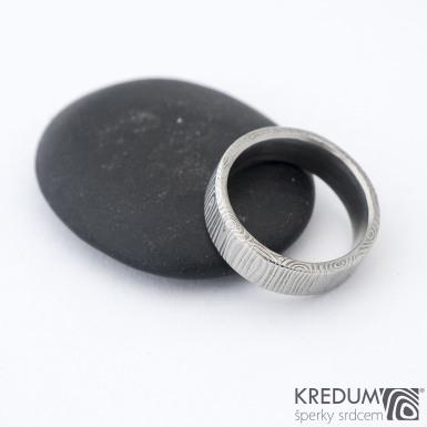 Prima - kolečka - Snubní prsten damasteel, SK1300