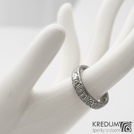 Prima - 57,5 4,7 1,3 75% TM B - Damasteel snubní prsteny s993  (3)