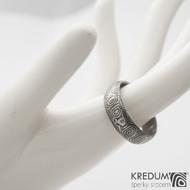 Prima 64 6,7 1,7 75% zatmavený - Damasteel snubní prsteny sk1282 (3)