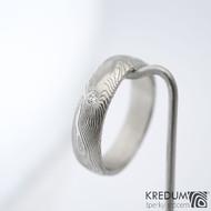 Prima a čirý diamant 2,3mm - vel 58, šířka 5,5 mm, struktura dřevo - lept 75% světlý, profil B, tloušťka 1,6 mm - sk1457 (3)