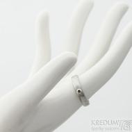 Prima a dranát 1,7 mm do Ag - 53, šířka 4 mm, tloušťka 1,6 mm, dřevo - lept 75% SV, profil B - Damasteel snubní prsteny - SK2118 (2)