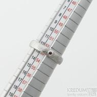 Prima a dranát 1,7 mm do Ag - 53, šířka 4 mm, tloušťka 1,6 mm, dřevo - lept 75% SV, profil B - Damasteel snubní prsteny - SK2118