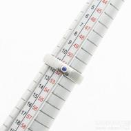 Prima a safír 2,2 mm do Ag - 52, šířka 4,5 mm, tloušťka 1,6 mm, struktura čářky 50 SV, profil E - Zásnubní prsten - sk2932 (7)