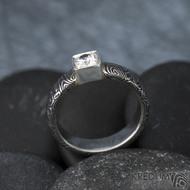 Prima Cube lady zirkon 4,5 mm - stará kolečka, velikost 52,5, šířka 4,6 mm, tloušťka 1,9 mm, lept 100% TM, profil B - Damasteel zásnubní prsten, SK1634 (12)