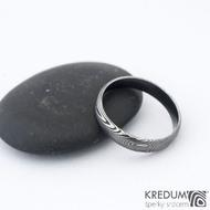 Prima DLC - 52 3,8 - do dlaně 3 A - Damasteel snubní prsteny SK1180  (2)