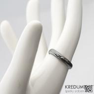 Prima DLC - 52 3,8 - do dlaně 3 A - Damasteel snubní prsteny SK1180 (3)