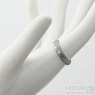 Prima dřevo - 53, šířka 4 mm, tloušťka 1,4 mm, lept 75SV, A - Damasteel snubní prsteny - SK2116 (6)