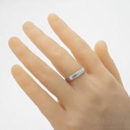 Prima dřevo lept 75% světlý - velikost 63; šířka 4,5 mm; tloušťka 1,7 mm; profil F - damasteel snubní prsten