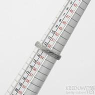 Prima, dřevo - velikost 53, šířka 3,7 mm, tlouš%tka 1,5 mm, lept 75% zatmavený, matný, profil E - Kované snubní prsteny - sk2211 (4)