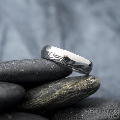 Prima DUO - Snubní prsten damasteel, SK1614