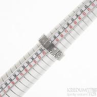 Prima Fenja - 61,5, šířka 7,1 mm, tloušťka 1,9 mm, lept 75% zatmavený, profil C - Damasteel snubní prsteny, sk2523 (4)