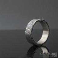 Prima kolečka - 74,5 8,8 2,2 C 100% zatmavené - Damasteel snubní prsteny SK1281 (4)