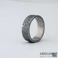 Prima kolečka - 74,5 8,8 2,2 C 100% zatmavené - Damasteel snubní prsteny SK1281
