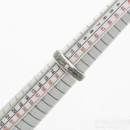 Prima line - damasteel zásnubní/snubní prsten, struktura voda, velikost 53, šířka 5 mm, lept 75% - zatmavený, profil A (půlčočka) - produkt SK3042