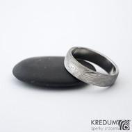 Prima překované dřevo 60 5,7 1,8 B 75% SV - Damasteel snubní prsteny sk1299 (2)