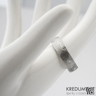 Prima překované dřevo 60 5,7 1,8 B 75% SV - Damasteel snubní prsteny sk1299