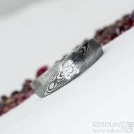 Prima Princezna a moissanite 3,5 mm - 54, šířka hlavy 5,5 mm do dlaně 3,5 mm, dřevo 75% TM, profil B - Zásnubní prsten - k 2009 (2)