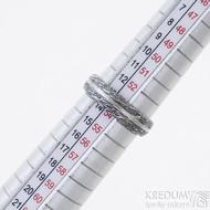 Prima s linkou - struktura voda - snubní prsten damasteel, velikost 54, šířka 5 mm, tloušťka stěny 1,7 mm - produkt SK2494
