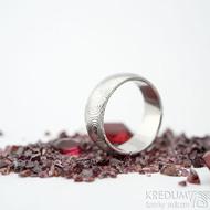 Prima vítr - velikost 54, šířka 7 mm, tloušťka 1,6 mm, lept 75% světlý, profil B - Damasteel snubní prsteny - sk1707 (2)