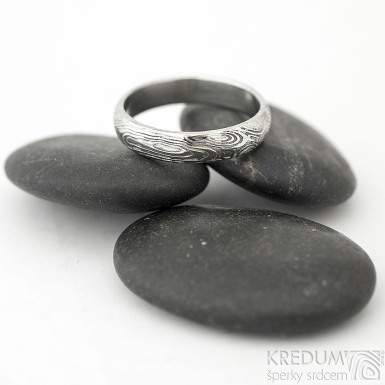 Prima vítr - Snubní prsten damasteel, SK1705