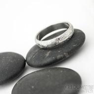 Prima - vítr - velikost 59, šířka 4,6 mm, tloušťka 1,6 mm, lept 75% světlý, profil B - Damasteel snubní prsteny - sk1705 (3)