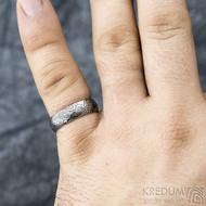 Prima vítr - velikost 61, šířka 6,2 mm, tloušťka 1,7 mm, 100% zatmavený, profil B - Snubní prsten damasteel, SK1704 (2)