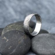 Prima vítr - velikost 61, šířka 6,2 mm, tloušťka 1,7 mm, 100% zatmavený, profil B - Snubní prsten damasteel, SK1704 (5)