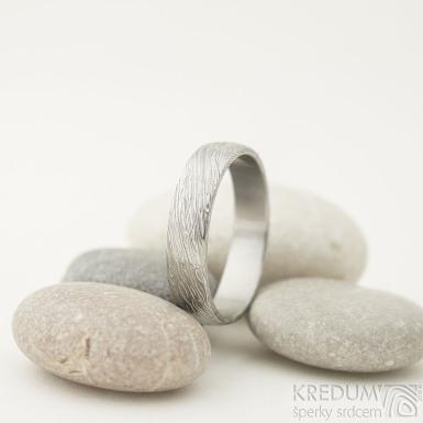 Prima - voda, lept 75% SV, profil B, velikost 73,5, šířka 6 mm, tloušťka 1,7 mm - Damasteel snubní prsteny - sk2214 (4)