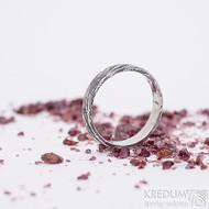 Prima, voda - velikost 55,5, šířka 3,8 mm, tloušťka 1,5 mm, 100% TM, B - Damasteel snubní prsten, SK2660 (5)