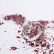 Prima, voda - velikost 55,5, šířka 3,8 mm, tloušťka 1,5 mm, 100% TM, B - Damasteel snubní prsten, SK2660 (2)
